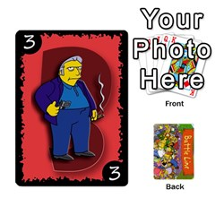 Simpsons Battle Line (deck 1) By Heath Doerr   Playing Cards 54 Designs   Bctyaoxvk2uy   Www Artscow Com Front - Club3