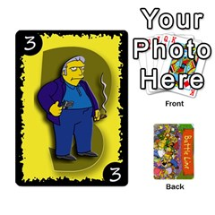 Simpsons Battle Line (deck 1) By Heath Doerr   Playing Cards 54 Designs   Bctyaoxvk2uy   Www Artscow Com Front - Club5