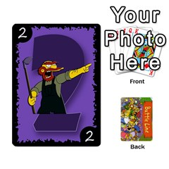Simpsons Battle Line (deck 1) By Heath Doerr   Playing Cards 54 Designs   Bctyaoxvk2uy   Www Artscow Com Front - Club7