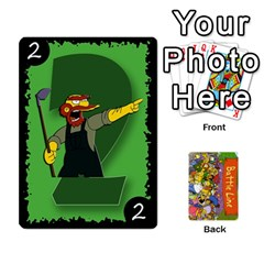 Simpsons Battle Line (deck 1) By Heath Doerr   Playing Cards 54 Designs   Bctyaoxvk2uy   Www Artscow Com Front - Club8