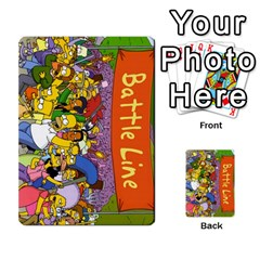 Simpsons Battle Line (deck 1) By Heath Doerr   Playing Cards 54 Designs   Bctyaoxvk2uy   Www Artscow Com Back