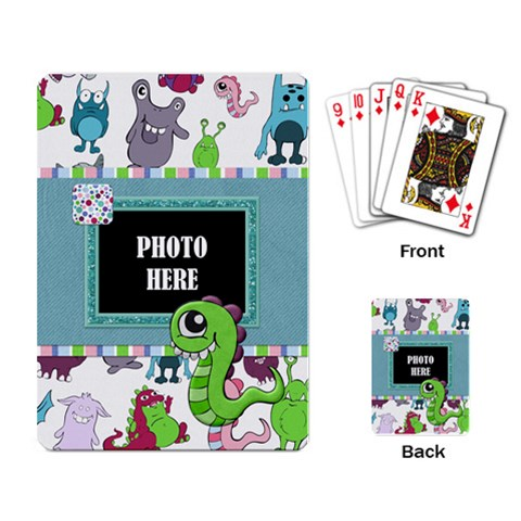 Monster Party Playing Cards 1 By Lisa Minor   Playing Cards Single Design   W3uxil8pivyj   Www Artscow Com Back