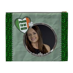 Proud To Be Irish Xl Cosmetic Bag By Lil    Cosmetic Bag (xl)   Xe764g70a2p8   Www Artscow Com Back