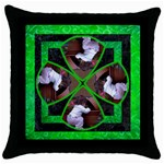 Lucky Throw - Throw Pillow Case (Black)