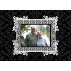 Elegant Black & White I Love You 3d Card By Klh   I Love You 3d Greeting Card (7x5)   9x0oqea605x0   Www Artscow Com Front