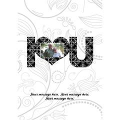 Elegant Black & White I Love You 3d Card By Klh   I Love You 3d Greeting Card (7x5)   9x0oqea605x0   Www Artscow Com Inside