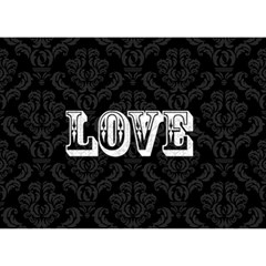 Elegant Black & White I Love You 3d Card By Klh   I Love You 3d Greeting Card (7x5)   9x0oqea605x0   Www Artscow Com Back