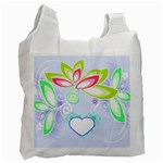 Blue Flower Recycle Bag - Recycle Bag (One Side)