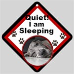 Sleeping Dog Car Window Sign