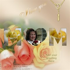 Love Mum 3d Card By Deborah   Mom 3d Greeting Card (8x4)   Lrx69q07z7se   Www Artscow Com Inside