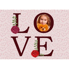 Love By Joely   I Love You 3d Greeting Card (7x5)   V4mv341eioxj   Www Artscow Com Front