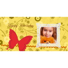Happy Birthday By Joely   Happy Birthday 3d Greeting Card (8x4)   Rsh1g1e08cmd   Www Artscow Com Front