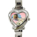 My Little Princess Heart Charm Watch - Heart Italian Charm Watch