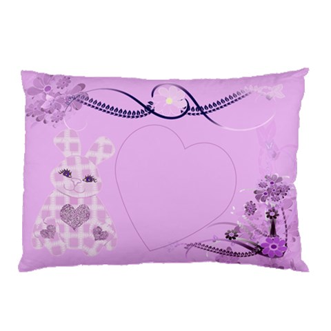 Lilac Bunny Pillow By Claire Mcallen   Pillow Case   7432qndnfiq6   Www Artscow Com 26.62 x18.9 Pillow Case