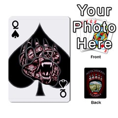Queen Ketchikan Bear Paw Cards By Jeff Whitesides   Playing Cards 54 Designs   L6az46js4qsx   Www Artscow Com Front - SpadeQ