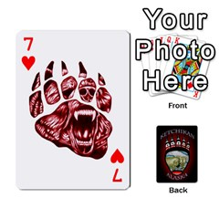 Ketchikan Bear Paw Cards By Jeff Whitesides   Playing Cards 54 Designs   L6az46js4qsx   Www Artscow Com Front - Heart7
