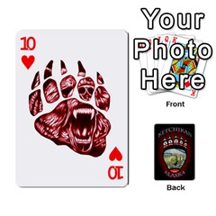 Ketchikan Bear Paw Cards By Jeff Whitesides   Playing Cards 54 Designs   L6az46js4qsx   Www Artscow Com Front - Heart10