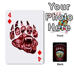 Ketchikan Bear Paw Cards By Jeff Whitesides   Playing Cards 54 Designs   L6az46js4qsx   Www Artscow Com Front - Diamond4