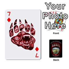 Ketchikan Bear Paw Cards By Jeff Whitesides   Playing Cards 54 Designs   L6az46js4qsx   Www Artscow Com Front - Diamond7