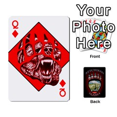 Queen Ketchikan Bear Paw Cards By Jeff Whitesides   Playing Cards 54 Designs   L6az46js4qsx   Www Artscow Com Front - DiamondQ