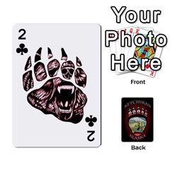 Ketchikan Bear Paw Cards By Jeff Whitesides   Playing Cards 54 Designs   L6az46js4qsx   Www Artscow Com Front - Club2