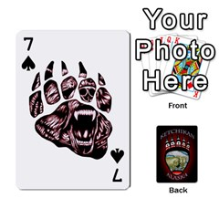 Ketchikan Bear Paw Cards By Jeff Whitesides   Playing Cards 54 Designs   L6az46js4qsx   Www Artscow Com Front - Spade7