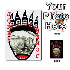 Ketchikan Bear Paw Cards By Jeff Whitesides   Playing Cards 54 Designs   L6az46js4qsx   Www Artscow Com Front - Joker2