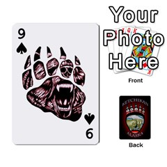 Ketchikan Bear Paw Cards By Jeff Whitesides   Playing Cards 54 Designs   L6az46js4qsx   Www Artscow Com Front - Spade9