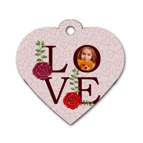 Love By Joely   Dog Tag Heart (one Side)   E55arqpxwsn6   Www Artscow Com Front