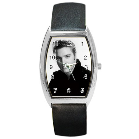 Elvis Watch By Patricia Plunkett   Barrel Style Metal Watch   5pvnzcqay74z   Www Artscow Com Front
