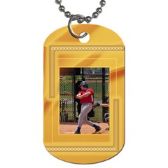 Mustard Dog Tag (2 Sided) By Deborah   Dog Tag (two Sides)   32p754tr5ex4   Www Artscow Com Front