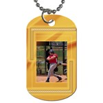 Mustard Dog Tag (2 sided) - Dog Tag (Two Sides)