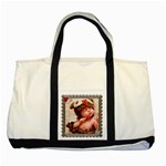 Heart Framed Two Tone Tote Bag