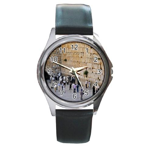 Kotel Watch 2 By Rivka Deutsch   Round Metal Watch   Q2w5phgsjs1v   Www Artscow Com Front