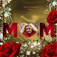 Loving Mother 3d Card By Deborah   Mom 3d Greeting Card (8x4)   7cg4adehlm6j   Www Artscow Com Inside