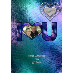 Stained Glass Love You 3d Card By Deborah   I Love You 3d Greeting Card (7x5)   7mm6y0rn1c7c   Www Artscow Com Inside