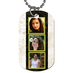 Gold 6 Frame Dog Tag  (2 Sided) By Deborah   Dog Tag (two Sides)   Kj07bpptddcq   Www Artscow Com Back