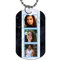 Blue Marble 6 Frame Dog Tag  (2 Sided) By Deborah   Dog Tag (two Sides)   Tlhichq6qzlm   Www Artscow Com Back