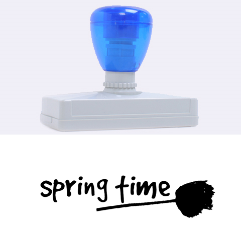 Spring Time By Zornitza   Rubber Address Stamp (xl)   31akvbe30d4u   Www Artscow Com 3.13 x1.38  Stamp