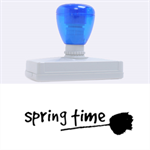 spring time - Rubber Address Stamp (XL)