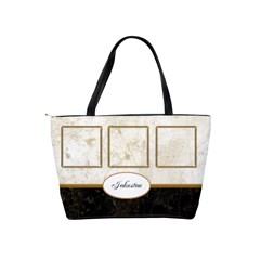 Marble And Gold Shoulder Handbag By Deborah   Classic Shoulder Handbag   Qm5gboo7qd29   Www Artscow Com Back