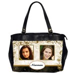 Gold and marble (2 sided) Oversized Office Bag - Oversize Office Handbag (2 Sides)