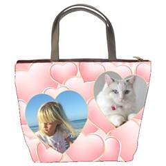 Pink Hearts Bucket Bag By Deborah   Bucket Bag   Uwy3ldt6f17m   Www Artscow Com Back