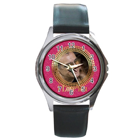 Love By May   Round Metal Watch   37a02pfqjon8   Www Artscow Com Front