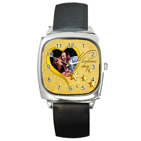 Love By May   Square Metal Watch   Krmljhp2v5bs   Www Artscow Com Front