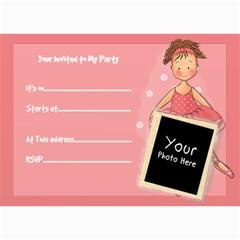 Party Invite Ballerina By Lillyskite   5  X 7  Photo Cards   Bdf6i5olsi2j   Www Artscow Com 7 x5 Photo Card - 2