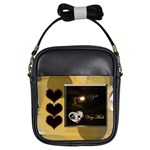 I heart you gold girls sling bag