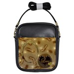 I heart you gold love girls sling bag