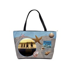 Sea Shells Classic Shoulder Handbag By Lil    Classic Shoulder Handbag   Gbvld78188vc   Www Artscow Com Front