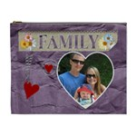 Family Purple XL Cosmetic Bag - Cosmetic Bag (XL)